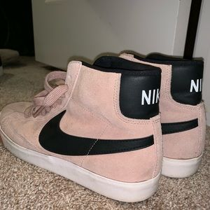 Women's pink nike suede high tops